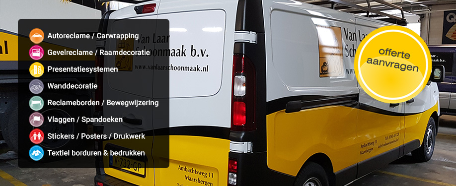 autoreclame autobelettering carwrapping